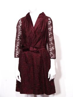 Vintage brown lace dress