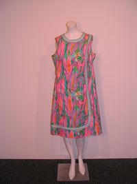 Vintage womens the lilly pulitzer bright corn print dress 1