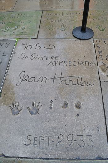 Jean harlow handprints