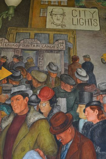 Coit tower murals 17
