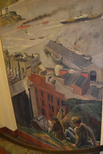 Coit tower murals 35