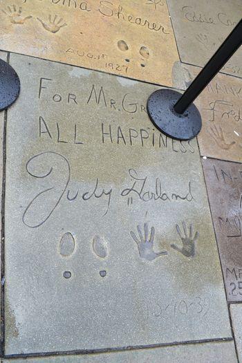 Judy garland handprints