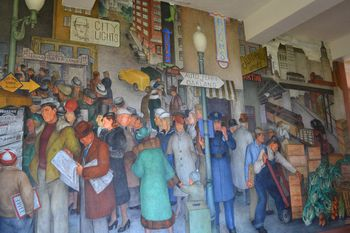 Coit tower murals 16