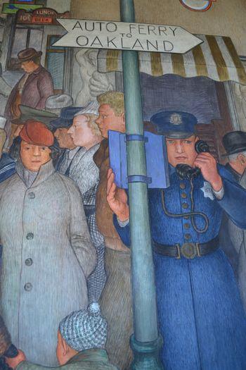 Coit tower murals 18