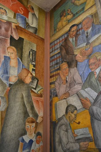 Coit tower murals 22