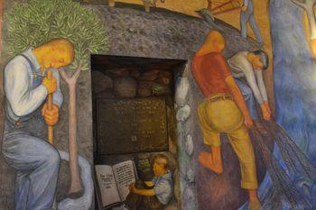 Coit tower murals 34