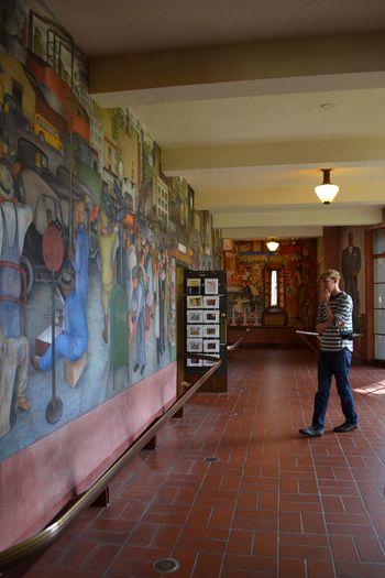 Coit tower murals 13