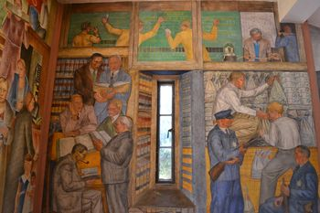 Coit tower murals 21