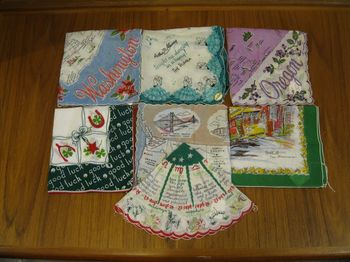 Vintage novelty hankies