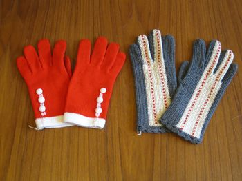 Vintage winter gloves