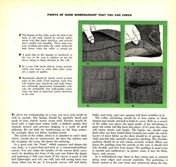 Mens coat article
