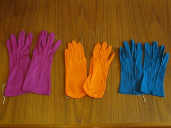 Vintage colored gloves