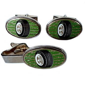 Tire cufflinks