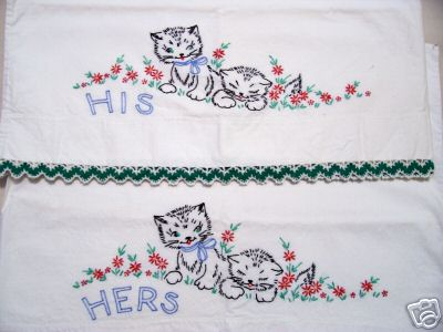 Vintage Embroidery Pillowcases