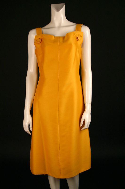 Golden Yellow Silk Dress
