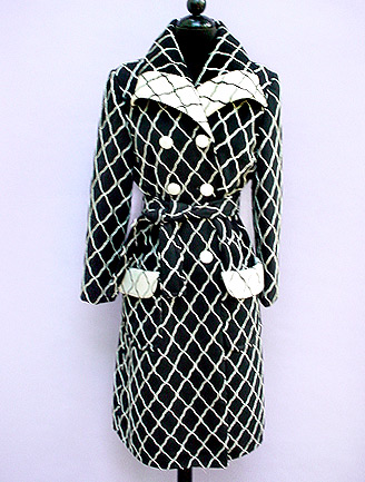 Lulu's Vintage Blog: Black & White Coats by Lilli Ann & Pierre Cardin