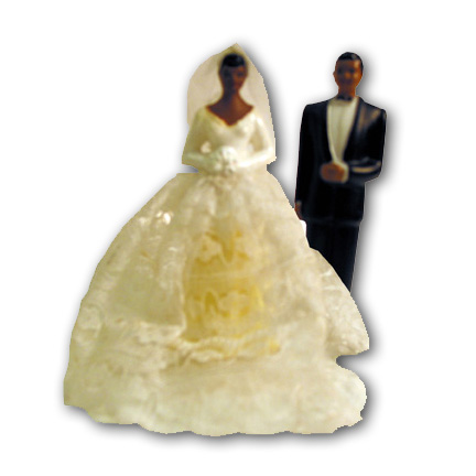 African American bride and groom You can purchase these wedding cake