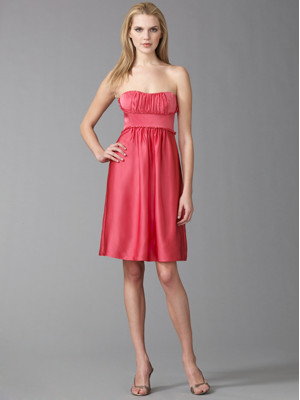 Pink Dress on Bcbg Max Azria Dark Pink Satin Strapless Dress