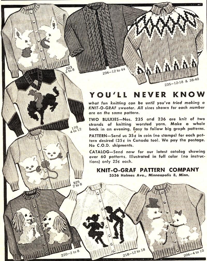 Lulu\'s Vintage Blog: Vintage Knitting Ads