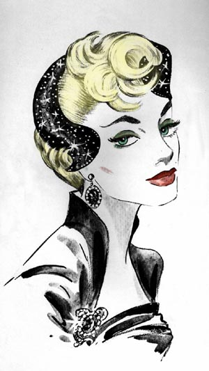 in style of 50's. Very fashionable look! What Hairstyles And Headpieces